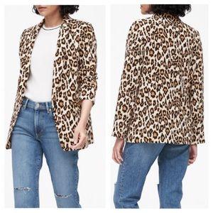 BANANA REPUBLIC Leopard Print Blazer Jacket